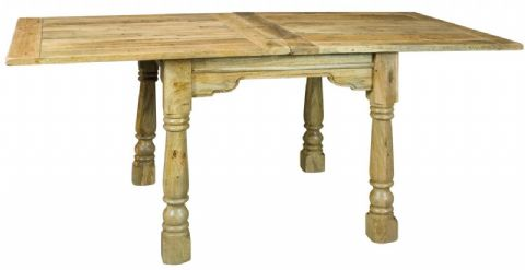 Small Rustic Oak Finish Extending Table